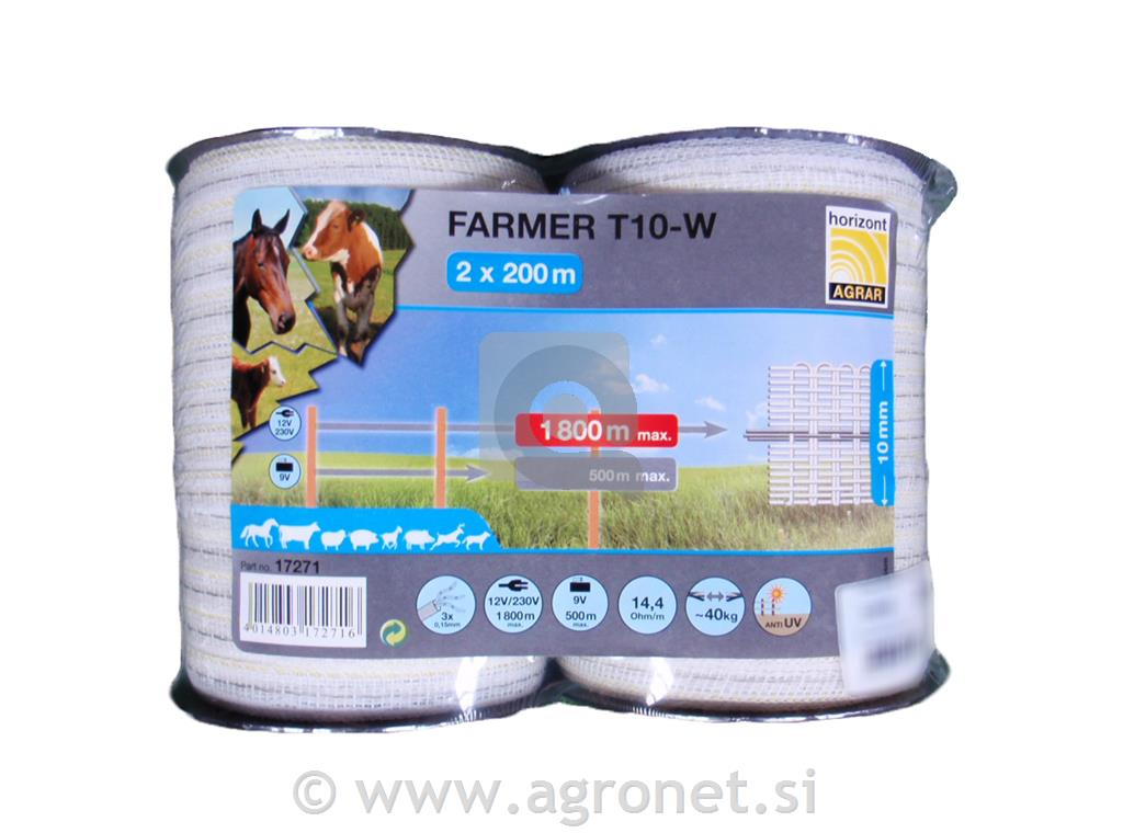Trak Farmer 10 mm, 2 x 200 m bel
